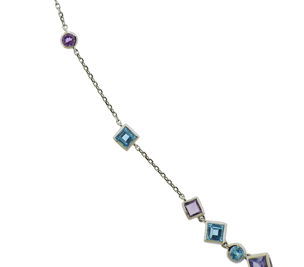 thumbnail image of Stephen Webster Gold Struck Turquoise Tanzanite Amethyst Necklace