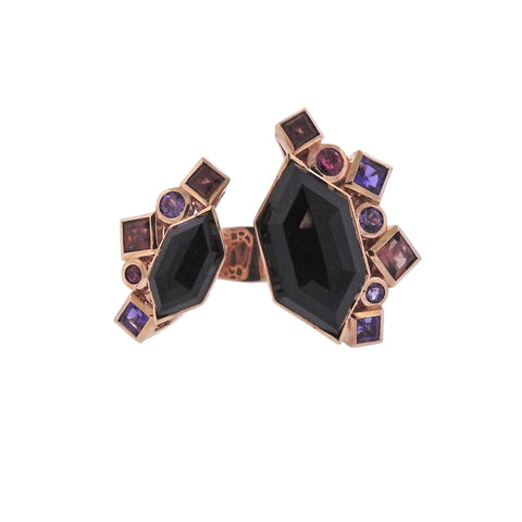 image of Stephen Webster Goldstruck Garnet Amethyst Tourmaline Gold Ring