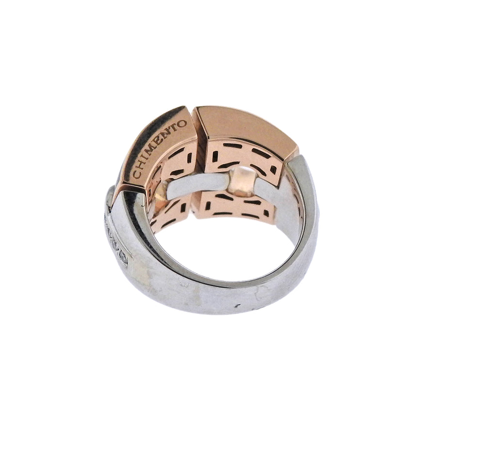 thumbnail image of Chimento Mother of Pearl Diamond Gold Ring