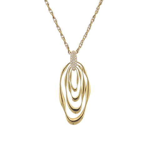 image of Diamond Gold Pendant Necklace