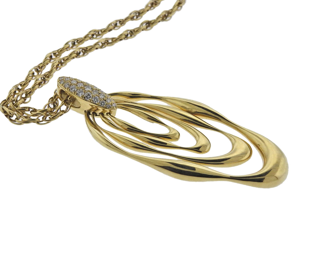 thumbnail image of Diamond Gold Pendant Necklace