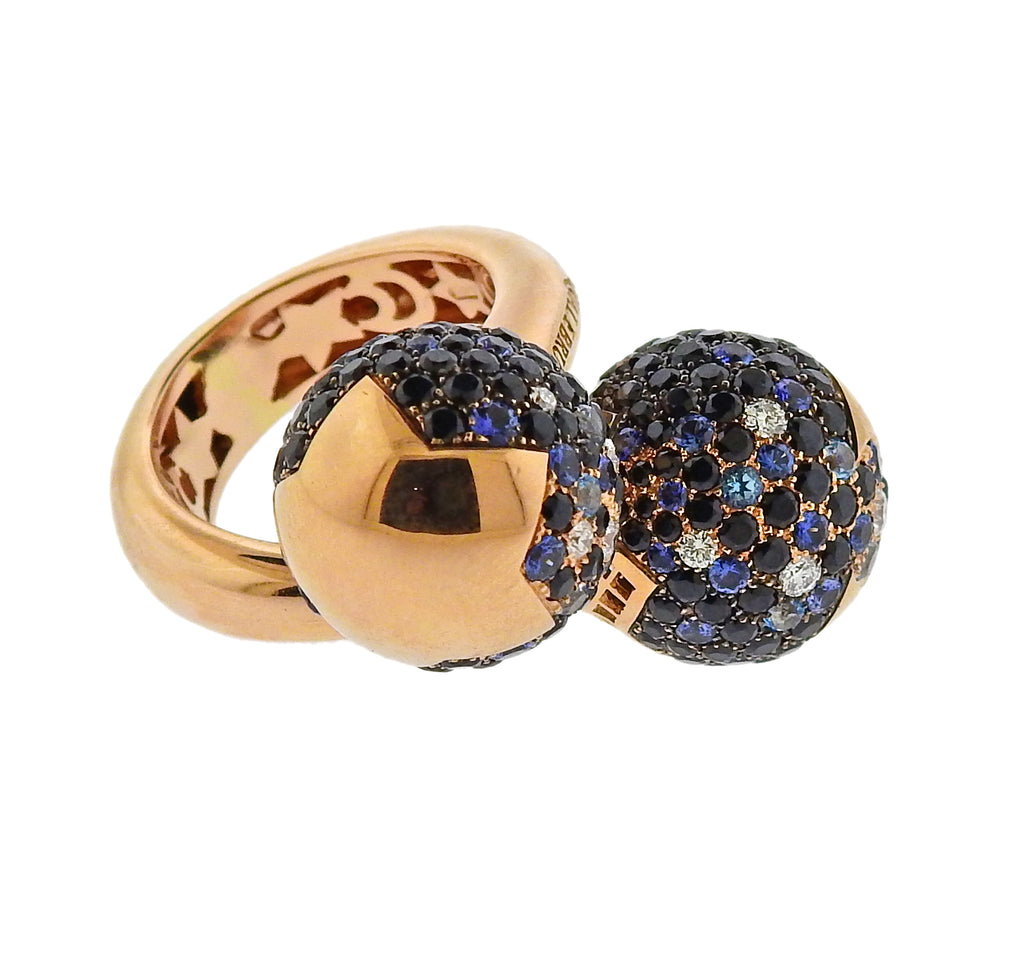 thumbnail image of Pasquale Bruni Sogno D'Oro Diamond Sapphire 18k Gold Ring
