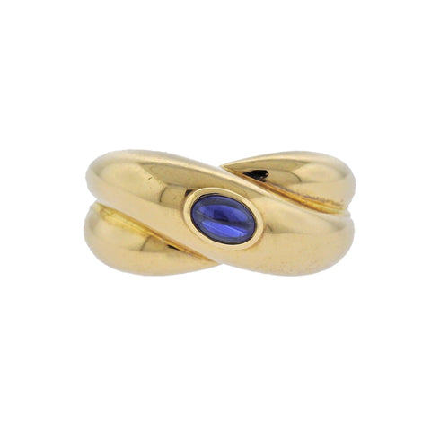 image of Cartier Sapphire Crossover Gold Ring