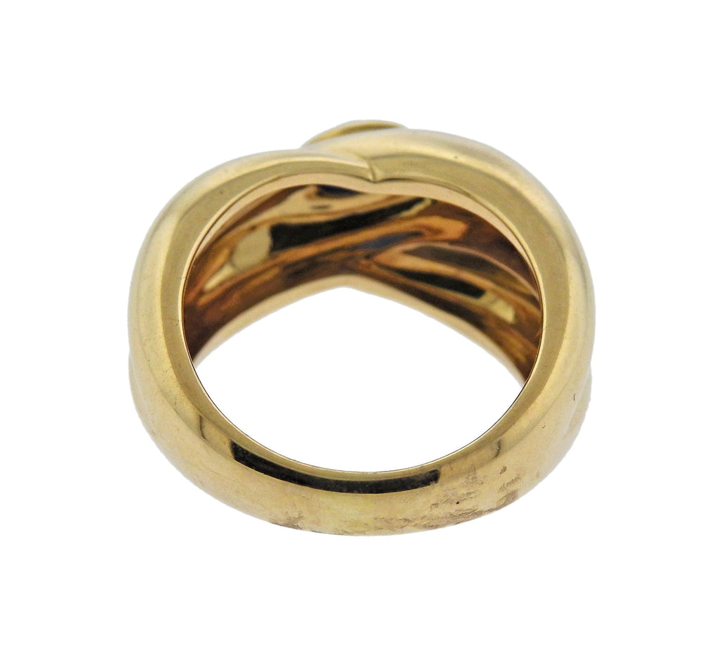 thumbnail image of Cartier Sapphire Crossover Gold Ring