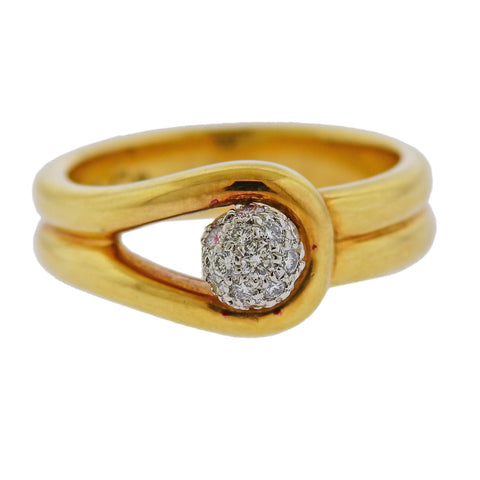 image of Tiffany & Co Gold Platinum Diamond Ring