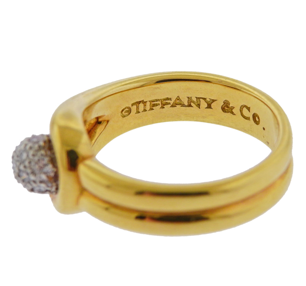 thumbnail image of Tiffany & Co Gold Platinum Diamond Ring