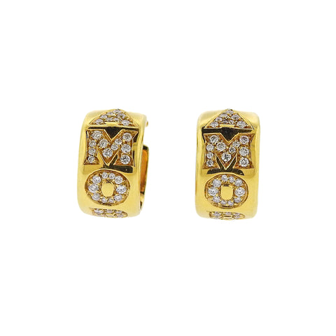image of Pasquale Bruni Amore 18k Gold Diamond Huggie Hoop Earrings
