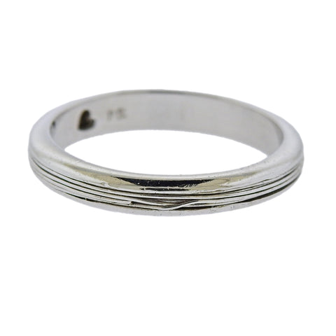 image of Pasquale Bruni Amore White Gold Band Ring