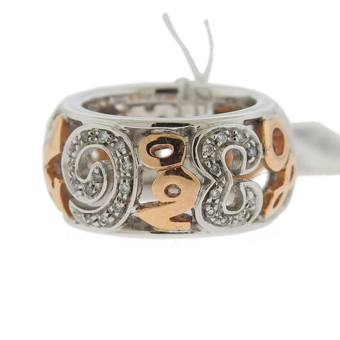image of Franck Muller Talisman 18k Gold Diamond Band Ring