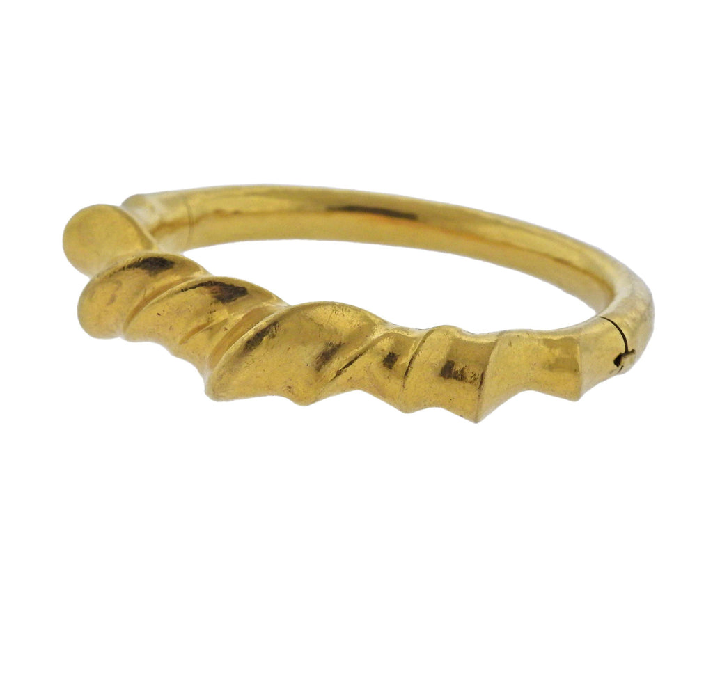 thumbnail image of Lalaounis Greece Swirl Motif Gold Bracelet