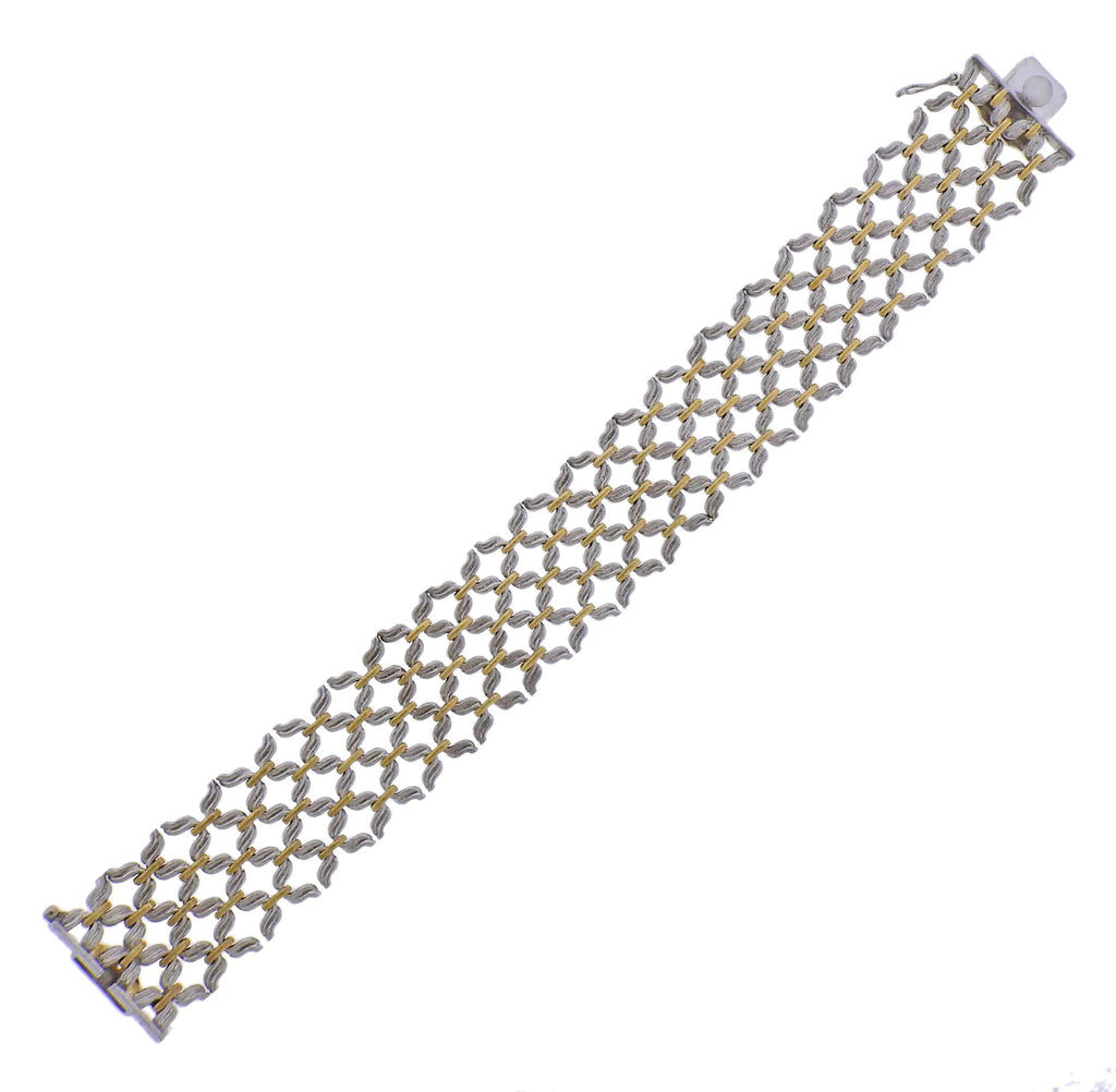 thumbnail image of Buccellati White Yellow Gold Bracelet