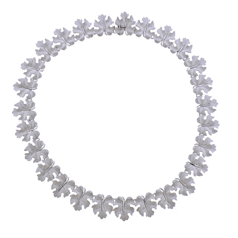 image of Buccellati White Gold Leaf Motif Necklace