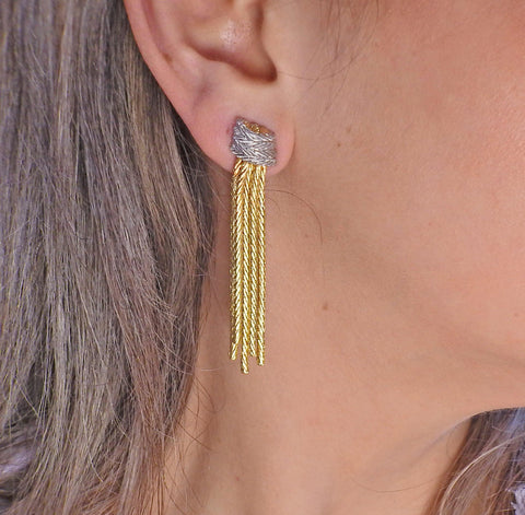 image of Buccellati Tassel Two Tone Gold Earrings