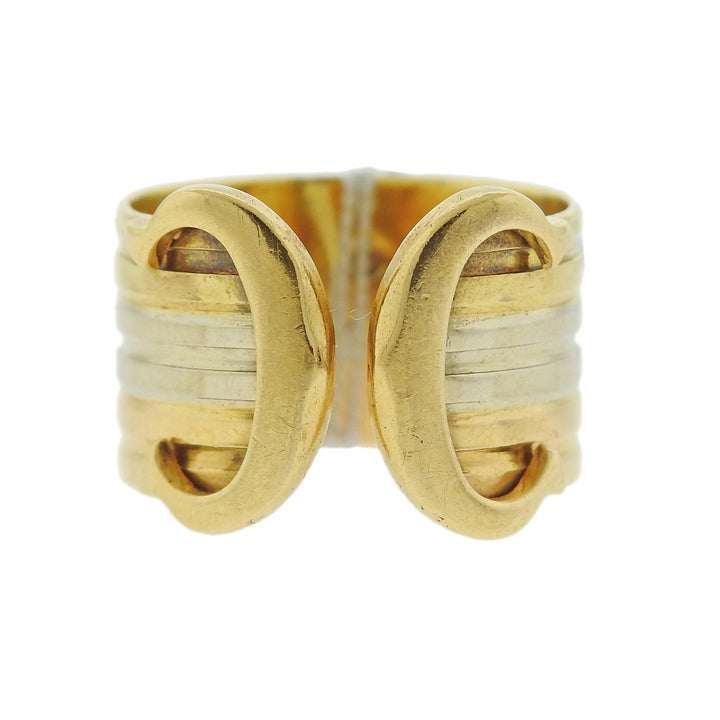 thumbnail image of Cartier CC Cuff 18k Gold Ring