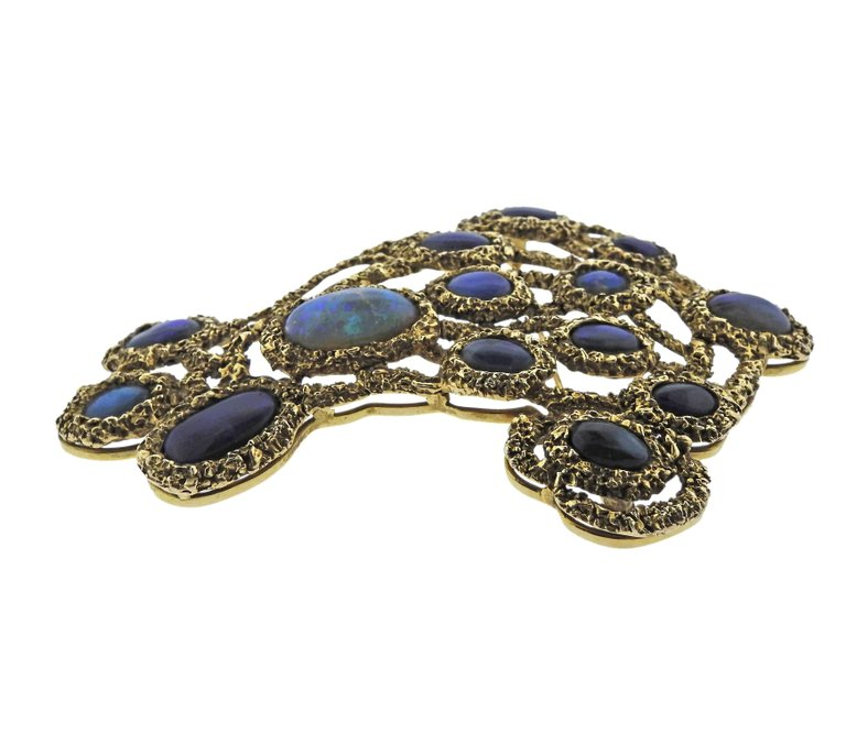 thumbnail image of Gilbert Albert Opal Gold Large Brooch