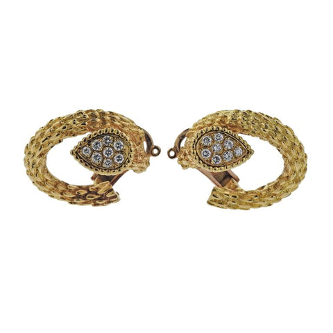 image of Boucheron Diamond Gold Earrings