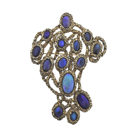 image of Gilbert Albert Opal Gold Large Brooch