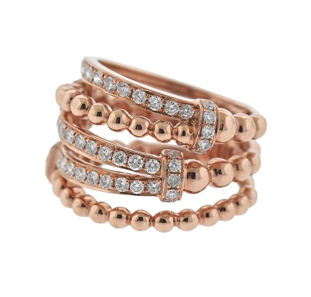 thumbnail image of Rose Gold Diamond Dome Ring