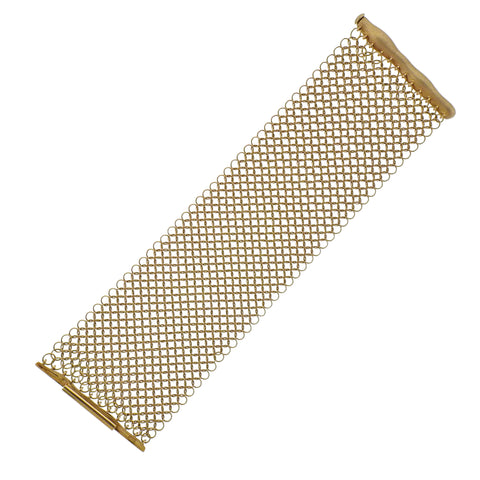 H. Stern Wide Mesh Gold Bracelet - Oak Gem
