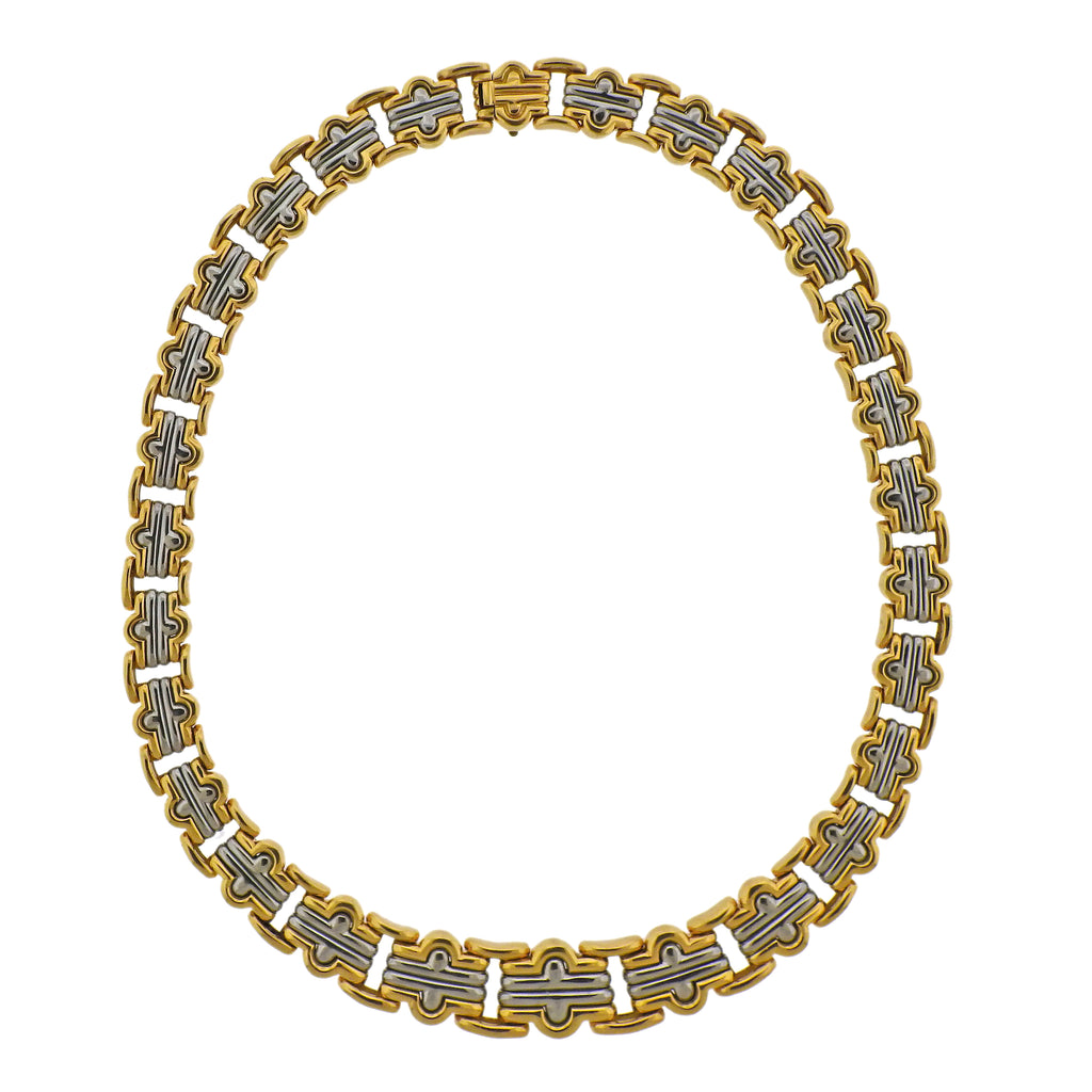 thumbnail image of Bulgari Parentesi Gold and Steel Necklace