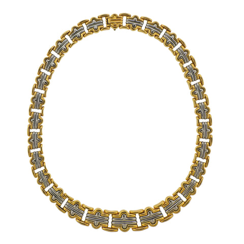 image of Bulgari Parentesi Gold and Steel Necklace