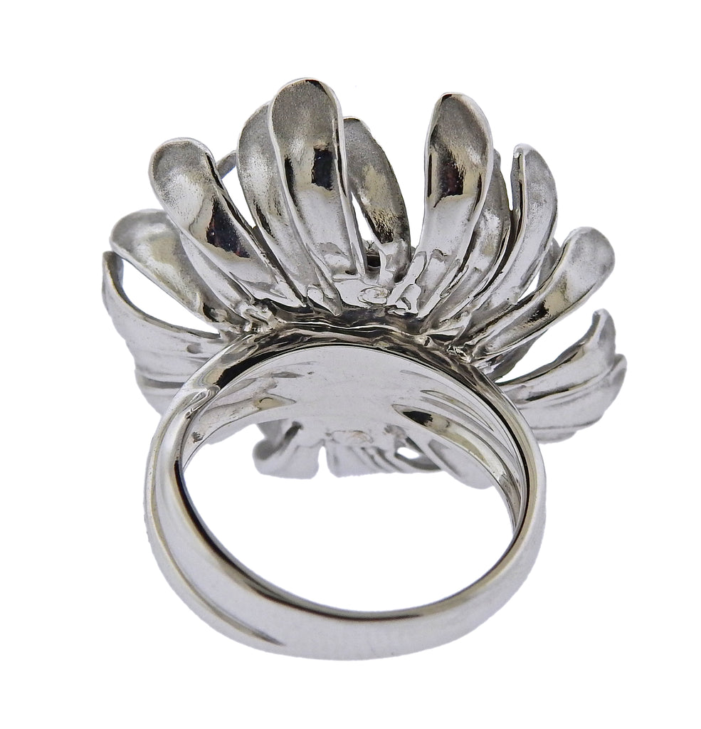thumbnail image of Annamaria Cammilli Prelude Diamond Gold Flower Ring