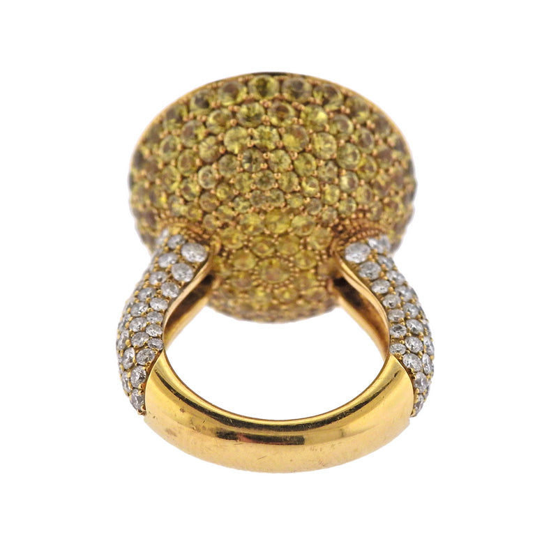 thumbnail image of De Grisogono Fruit Diamond Yellow Sapphire Ring