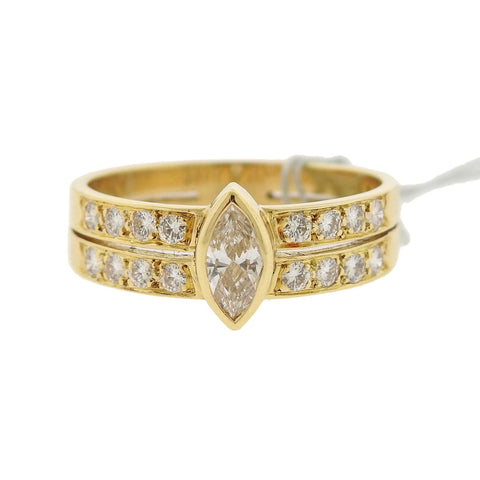 image of Cartier 18k Gold Diamond Ring
