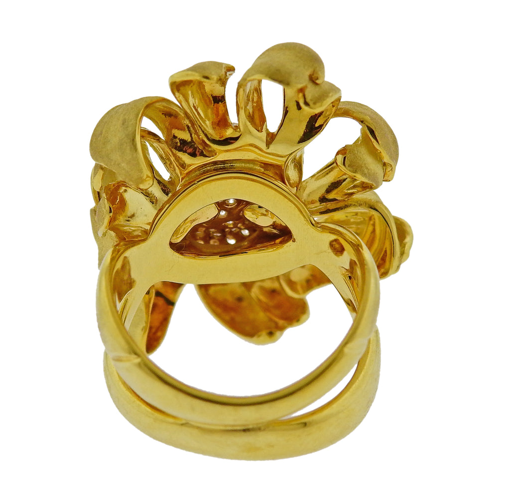 thumbnail image of Annamaria Cammilli Mirage Diamond Gold Flower Ring