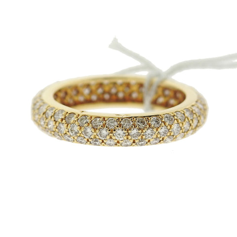 image of Cartier 18k Gold Diamond Wedding Band Ring