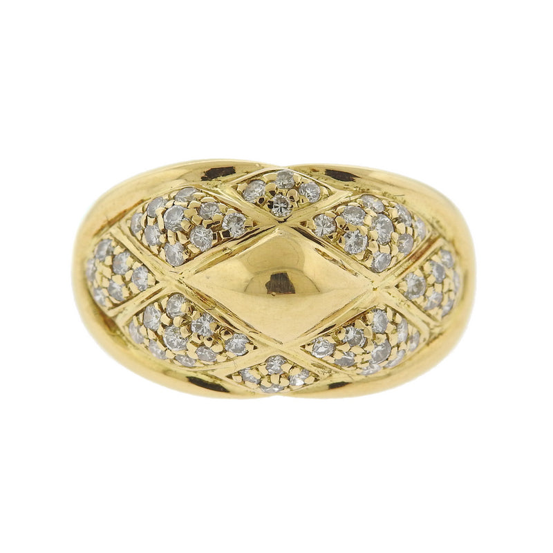 thumbnail image of Chaumet 18k Gold Diamond Dome Ring