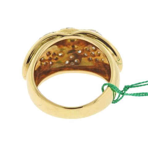 image of Chaumet 18k Gold Diamond Dome Ring