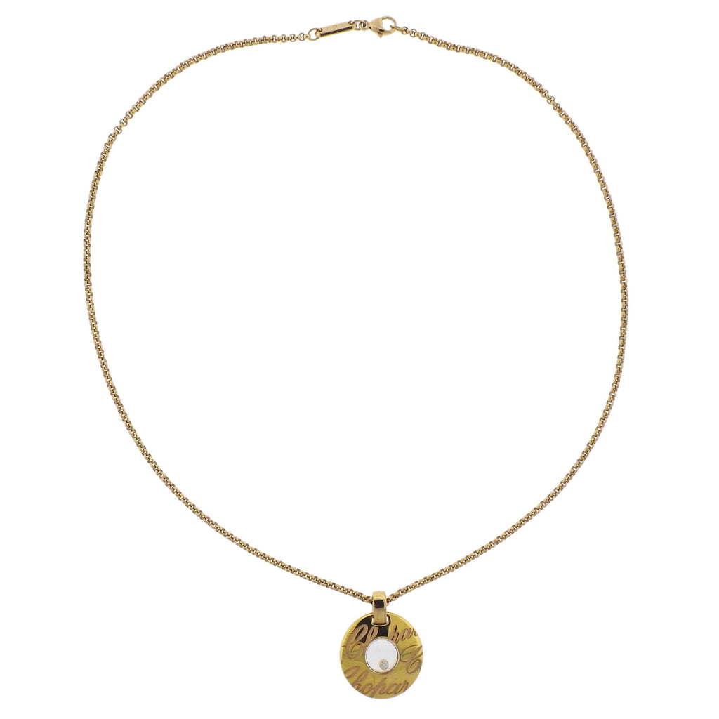 thumbnail image of Chopard Choppardissimo Floating Diamond Gold Pendant Necklace