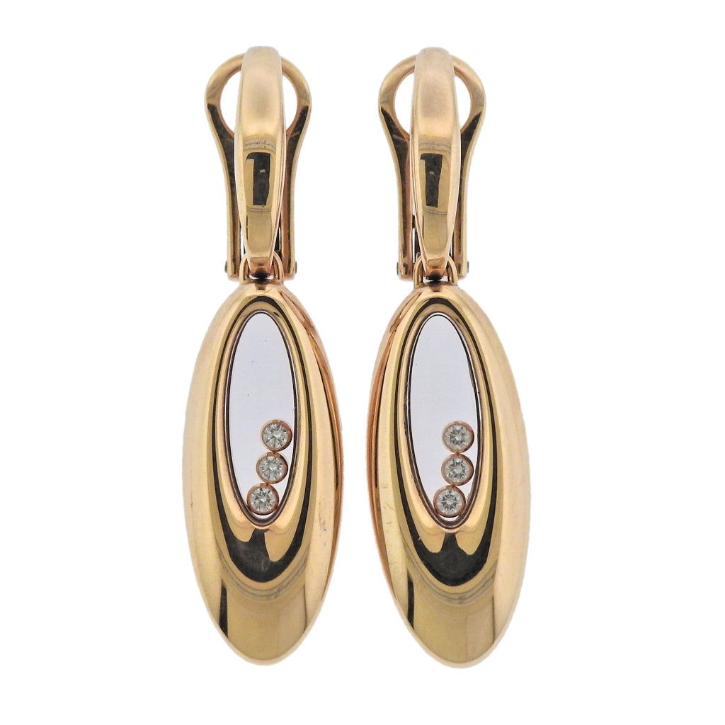 thumbnail image of Chopard Happy Diamonds Gold Earrings