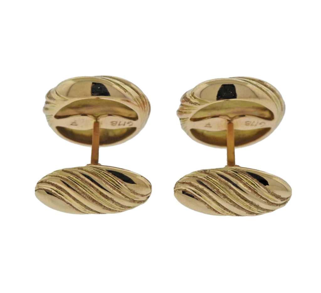 thumbnail image of Buccellati Rose Gold Wave Motif Cufflinks