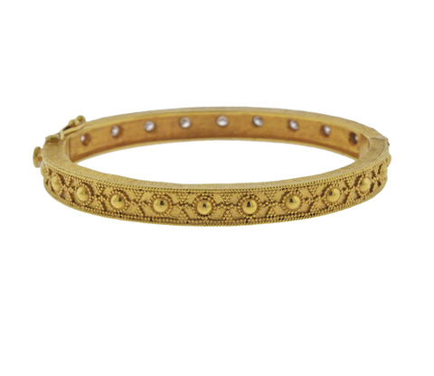 image of Ilias Lalaounis Hellenistic Diamond Gold Bracelet