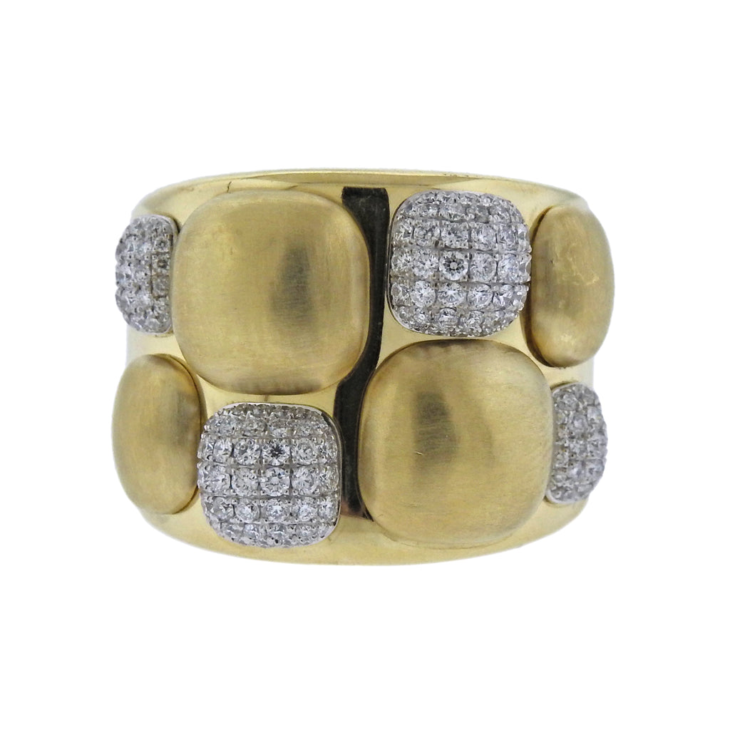 thumbnail image of Chimento Dune Diamond Gold Ring