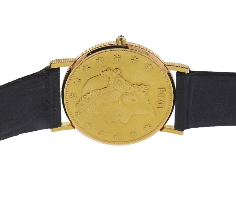 thumbnail image of Corum 1904 Double Eagle Twenty Dollar Gold Coin Wristwatch