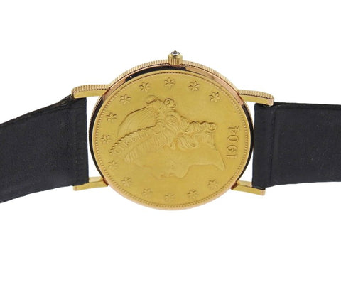 image of Corum 1904 Double Eagle Twenty Dollar Gold Coin Wristwatch