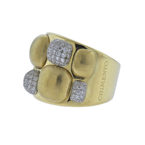 image of Chimento Dune Diamond Gold Ring
