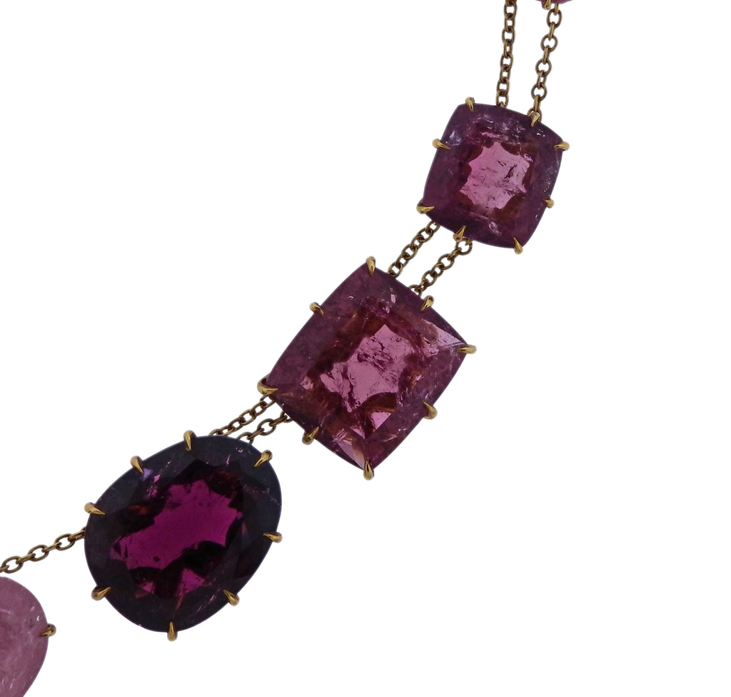 thumbnail image of H. Stern Pink Gold Tourmaline Necklace