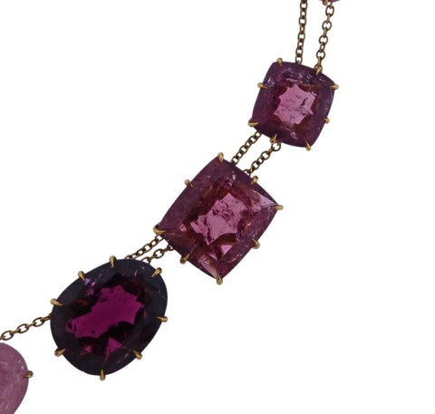 image of H. Stern Pink Gold Tourmaline Necklace