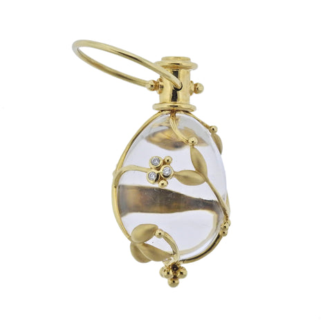 image of Temple St. Clair Crystal Diamond Gold Amulet Pendant