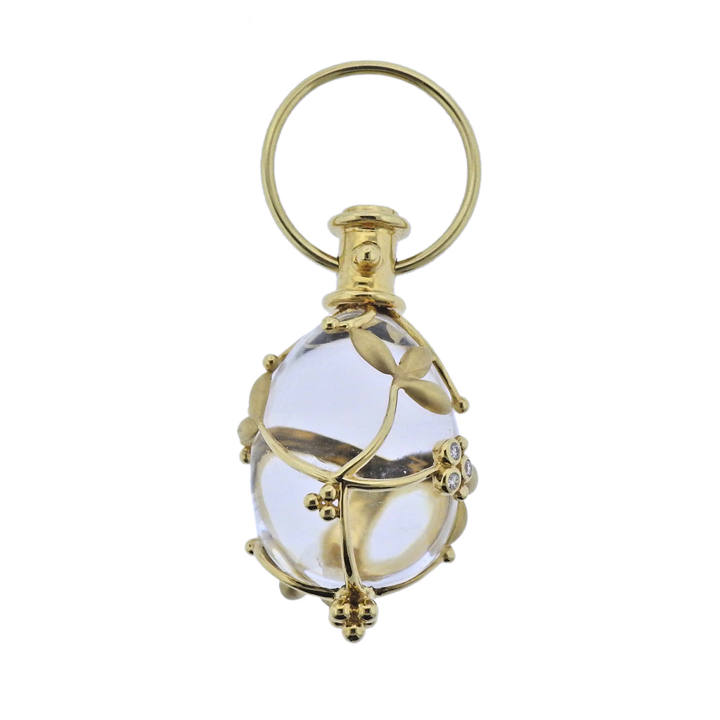 thumbnail image of Temple St. Clair Crystal Diamond Gold Amulet Pendant