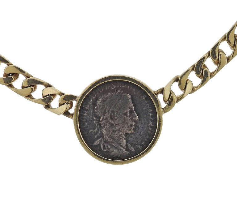 thumbnail image of Ancient Coin Gold Pendant Necklace
