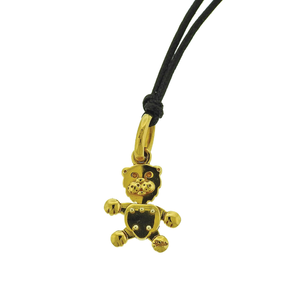 thumbnail image of Pomellato 18k Gold Movable Teddy Bear Pendant Charm