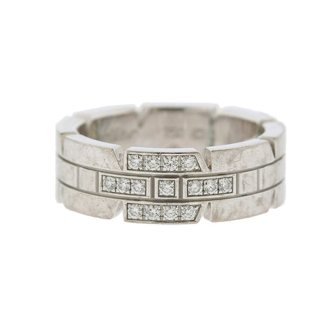image of Cartier 18k Gold Diamond Band Ring