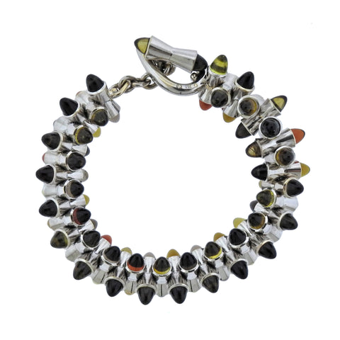 image of Tamara Comolli Multi Color Sugarloaf Citrine 18k Gold Bracelet