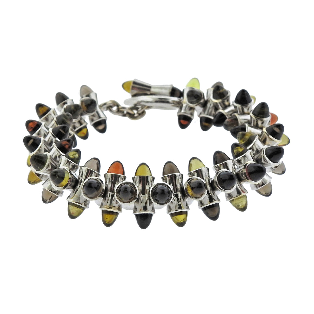 thumbnail image of Tamara Comolli Multi Color Sugarloaf Citrine 18k Gold Bracelet