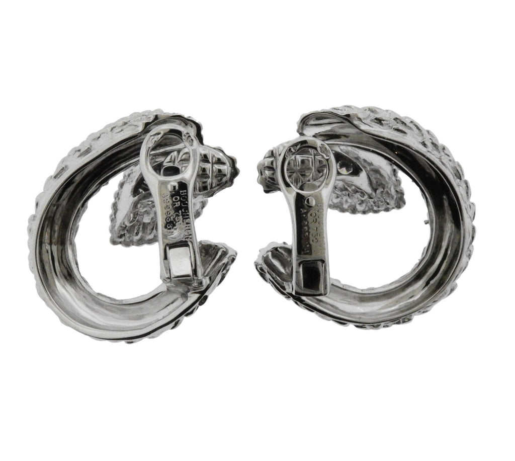 thumbnail image of Boucheron Serpent Boheme Diamond White Gold Earrings
